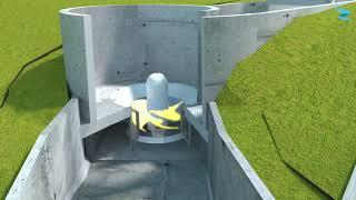 """Turbulent fait de l'hydro-électricité avec une turbine """"fish-friendly"""""""