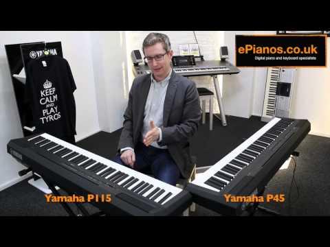 Сравнение пианино Yamaha P-45 и P-115