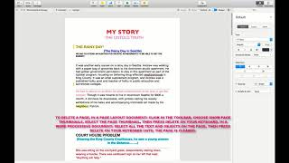 HOW TO ADD OR DELETE A PAGE IN A PAGES DOCUMENT MAC