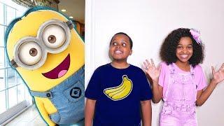 Bad Baby Minions ATTACK! Evil Minion Banana Costume - Shasha And Shiloh - Onyx Kids