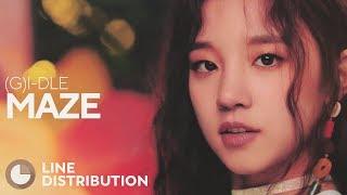 (G)I-DLE - MAZE (Line Distribution)