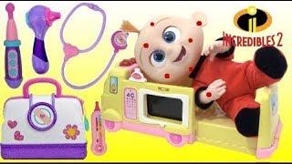 Baby Jack Jack has Chickenpox and Visits Doc McStuffins Hospital Ambulance!