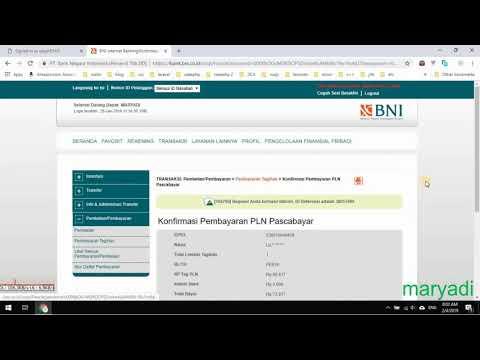 Membayar Tagihan Listrik Menggunakan Internet Banking BNI
