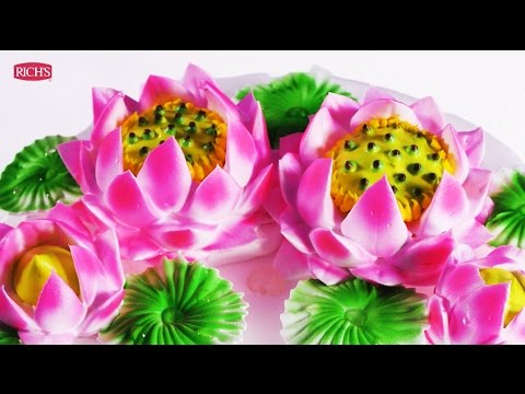 Hướng dẫn trang trí bánh kem hoa sen