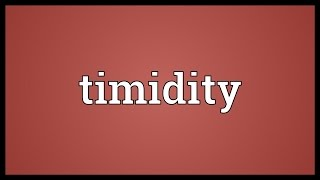 Timidity Meaning