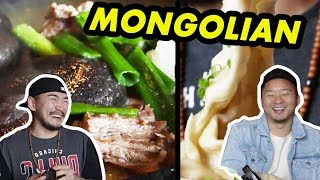 WHAT IS REAL MONGOLIAN FOOD? W Mongolian Person!  Fung Bros
