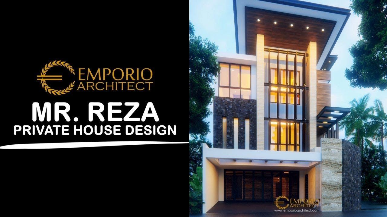 Video 3D Desain Rumah Modern 3 Lantai Bapak Reza di Jakarta