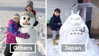 This Is How Japan Children Play With Snow