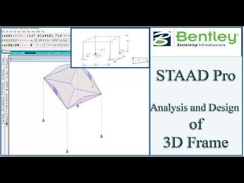 STAAD Pro Tutorial For Beginners [Episode 4]: Analysis and Design ...