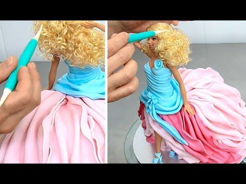 Video Barbie Fashion Doll Cake How To Make by Cakes StepbyStep