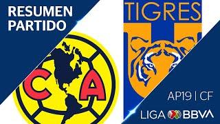 Resumen y Goles   América vs Tigres UANL   Cuartos de FInal - Apertura 2019   Liga BBVA MX