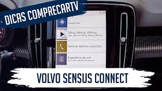 Central multimídia Volvo Sensus Connect