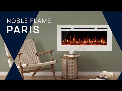 """LED-Elektrokamin """"PARIS"""" von Noble Flame. Wandkamin / Einbaukamin"""
