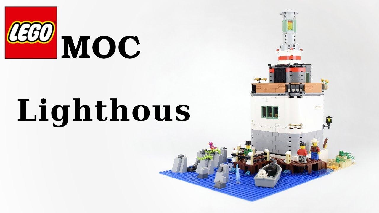 Lego MOC - Lighthouse - Latarnia Morska