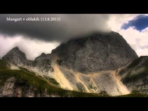 Mangart v oblakih