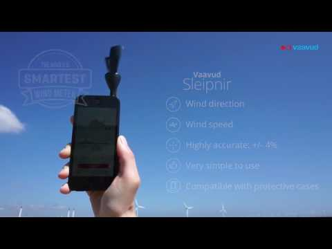 Wind meter for smartphone