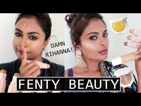 FENTY BEAUTY REVIEW – FOUNDATION, CONCEALER, HIGHLIGHTER & CONTOUR