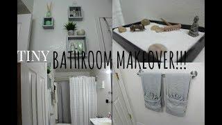 DIY| Small Bathroom Makeover!!!+TOUR|Affordable