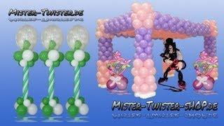 Balloon column, Balloons in Balloon, Luftballon Säule, Luftballons im Luftballon