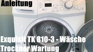Wäsche Trockner Wartung (Filter Wassertank und Kondensator) Kondenswäschetrockner exquisit TK 810-3