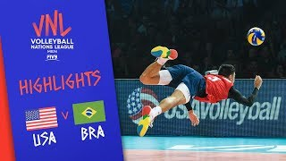 USA Vs. BRAZIL - Highlights | Semi-Final | Volleyball Nations League 2019