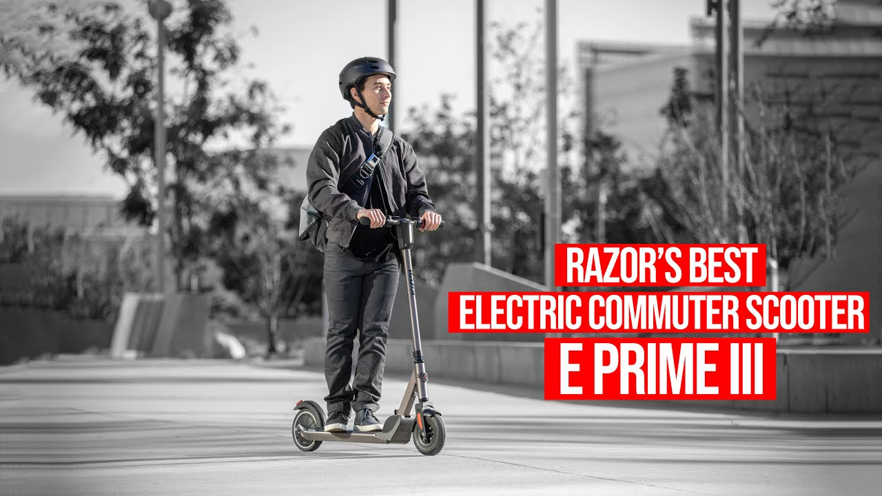 RAZOR'S BEST ELECTRIC COMMUTER SCOOTER – E Prime III