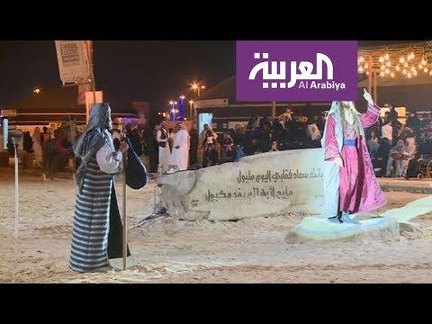 العرب اليوم - شاهد: قوافل الشعراء تعود إلى الحياة في سوق عكا