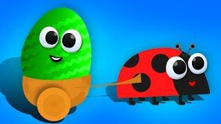 Маленькие БУКАШКИ. Открываем Яйца Сюрприз с игрушками Барбоскиных и др.