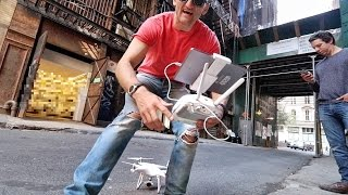 NEVER fly a Drone in a NYC Alley