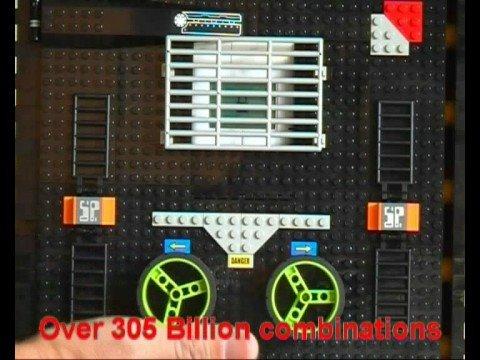 Sejf z klocków Lego - 305 miliardów kombinacji!
