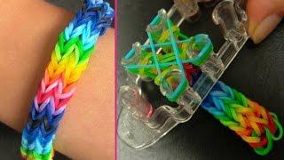 Как сделать браслет из резинок. Стиль Двойной рыбий хвостик. Rainbow loom Fishtail