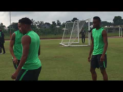 Close Contact with Super Eagles in training at the Nest of Champions
