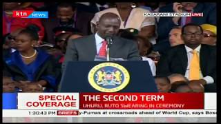 Deputy President, William Ruto's speech during the inauguration ceremony