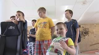 Экипаж «Стрижей» навестил детей в лечебно-реабилитационном центре «Русское поле»
