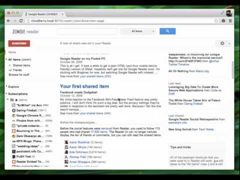 Zombie Reader Browses Your Archived Google Reader Data