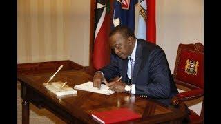 Uhuru Kenyatta signs new bills, new law protects personal data | Political Point