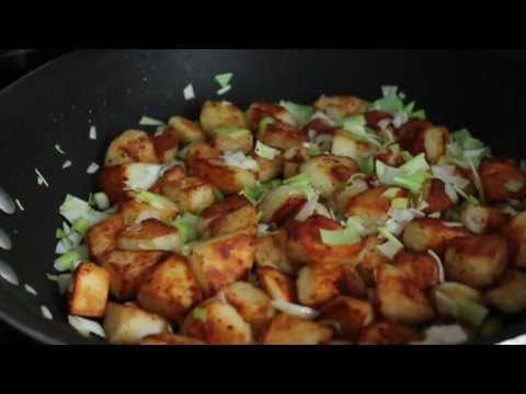 Duck Fat Potato Homefries – Green Garlic Duck Fat Home Fries Recipe