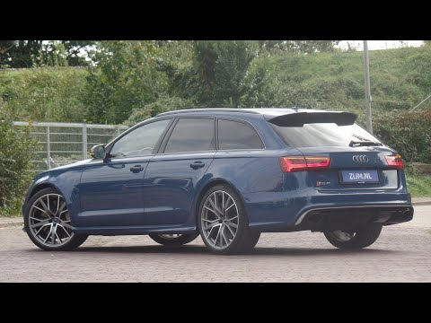 Audi RS6 in 4K 2018 Pro Line Plus Quattro Ascari Blue 21 inch allows walk around & detail inside