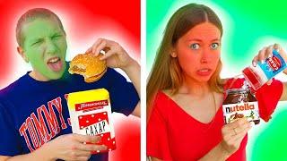 SWEET vs SALTY challenge ! Sweet Vs Salty Food - Anny May