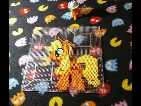 Perler Bead My Little Pony Applejack Time Lapse Wolleplanet