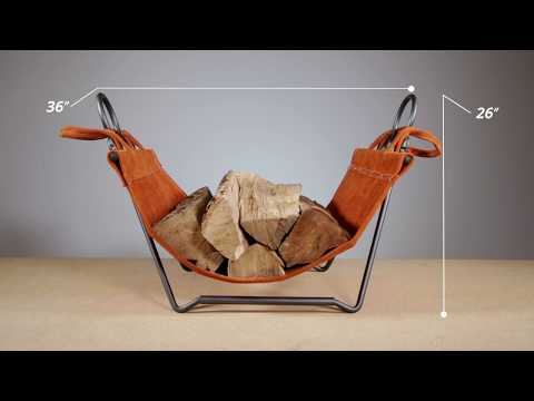 Pilgrim Forged Indoor Firewood Rack with Carrier