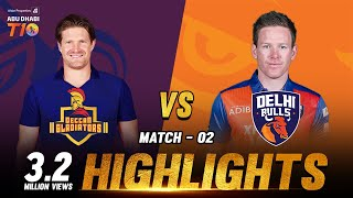Match 2 I Deccan Gladiators vs Delhi Bulls I Day 1 I Aldar Properties Abu Dhabi T10 I Season 3