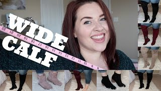 BOOT HAUL! Wide Calf Thigh High Boots & Booties |Plus Size Fashion|