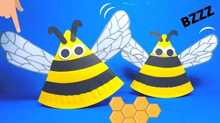 Paper Plate Rocking Bee | Paper Crafts For Kids