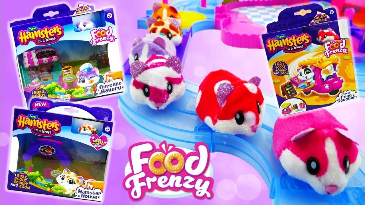 Hamsters in a House Food Frenzy Cupcake Bakery Food Scooter and Hamster House Review