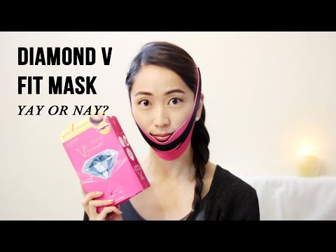 Slimming Face Mask Review ft. Diamond V Fit Mask | LookMazing