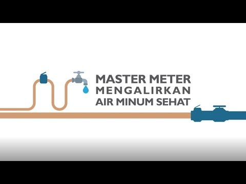 Master Meter Mengalirkan Air Minum Sehat