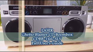 Laser Ghetto Blaster - CDBB-166-SLV Full Users Guide