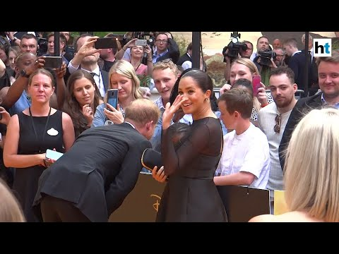 Meghan Markle attends 'The Lion King' premiere with Prince Harry