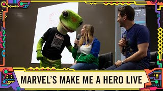 Marvel Make Me a Hero LIVE with the GEICO Gecko at SDCC 2019